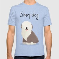 Sheepdog - Cute Dog Series Mens Fitted Tee Tri-Blue SMALL