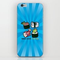 Mario Sushi Cyan iPhone & iPod Skin