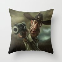 Rick Grimes From 'The Wa… Throw Pillow