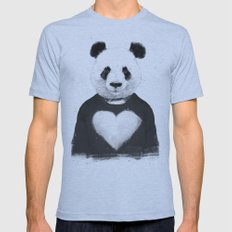Lovely panda Mens Fitted Tee Athletic Blue SMALL