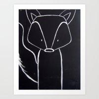 No. 001 - The Fox (Modern Kids & Nursery Art) Art Print