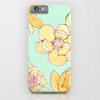 Summer flowers blue iPhone 6 Slim Case