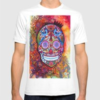 Sugar Skull Mens Fitted Tee White SMALL