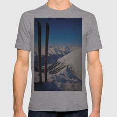 ski Mens Fitted Tee Athletic Grey SMALL
