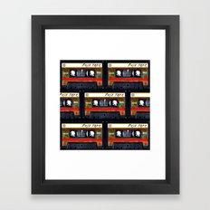 Retro Cassette Mix Tape Framed Art Print