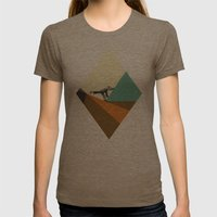 Deconstructing Womens Fitted Tee Tri-Coffee SMALL