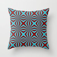 Sunbeams In Turquoise An… Throw Pillow