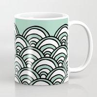 Waves Mint Mug