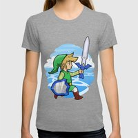 Link, The Wind Waker Womens Fitted Tee Tri-Grey SMALL