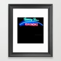 Fancy Fun Karaoke Framed Art Print
