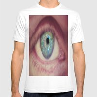 World Eye View Mens Fitted Tee White SMALL