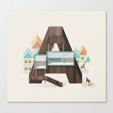 Resort type - Letter A Canvas Print