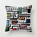 Urban  Cat Affair Throw Pillow
