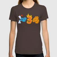 Fantastic Numbers Womens Fitted Tee Brown SMALL