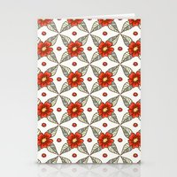 Guild of flowers and leaves Stationery Cards