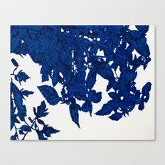 Royal Blue Leaves Canvas Print