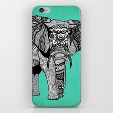 Tribal Elephant Black and White Version iPhone & iPod Skin
