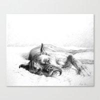 Lazy Mastiff Canvas Print