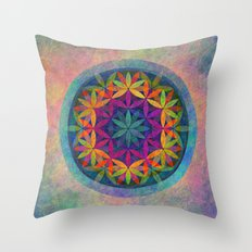 The Flower of Life variation Throw Pillow