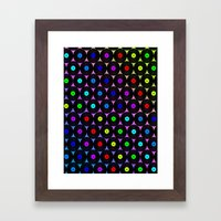 Disco Records Framed Art Print