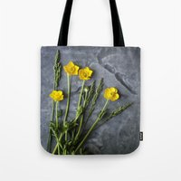 Hello Buttercup - Yellow Flower  Tote Bag