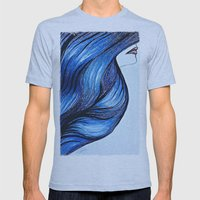 Abstract Hair Mens Fitted Tee Athletic Blue SMALL