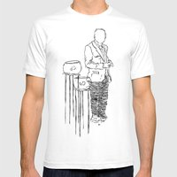 Look At My Fish Mens Fitted Tee White SMALL