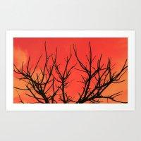 Fire Branch Art Print