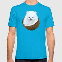 coconutty Mens Fitted Tee Teal SMALL