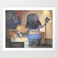 Stop Wars Art Print