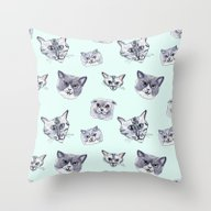 Some Grey Cats Throw Pillow