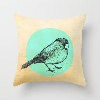 Spotted bird Throw Pillow