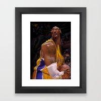 Kobe Bryant Framed Art Print