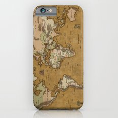 World Treasure Map Slim Case iPhone 6s