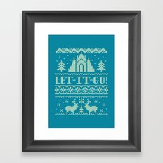 Let It Go Sweater Framed Art Print