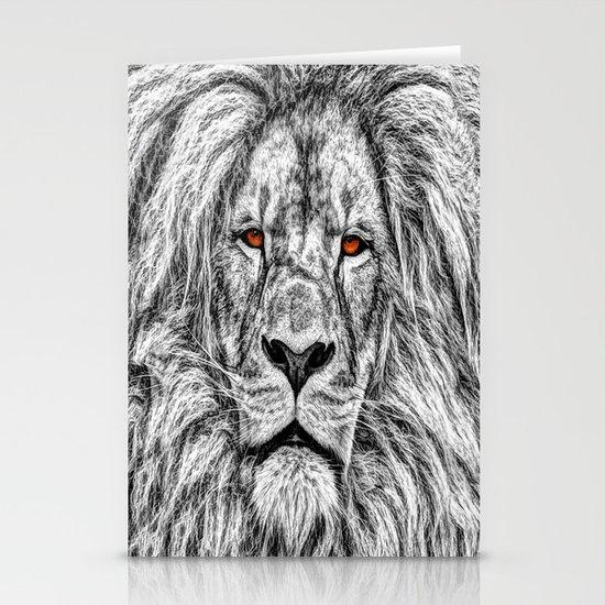 Black Lion Stationery Card
