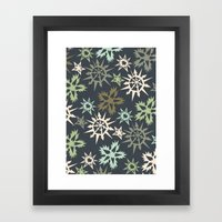 Unlikely Snowflakes Framed Art Print