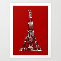 Palace Of The Soviets Fo… Art Print