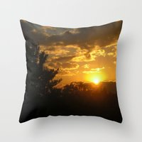 Silhouette Sunset Throw Pillow