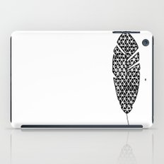Black and White Patterned Feather iPad Case