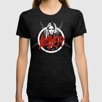 Vampire Slayer Womens Fitted Tee Tri-Black SMALL
