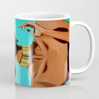 Gold & blue Mug