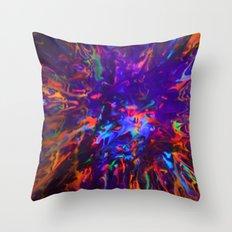 Creamy Spill Black Light Throw Pillow