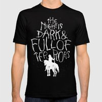 The Night Is Dark And Fu… Mens Fitted Tee Black SMALL