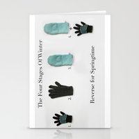The Four Stages Of Winter Stationery Cards