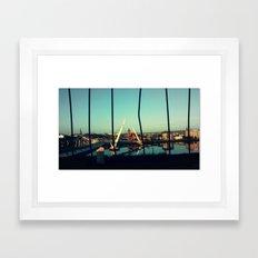 Between the Bars Framed Art Print