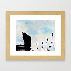 Blue Days Framed Art Print