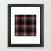 Black, Red, Lumberjack P… Framed Art Print