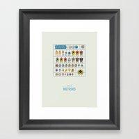 Metroid Model Kit Framed Art Print