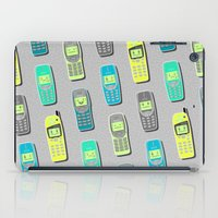 Vintage Cellphone Pattern iPad Case